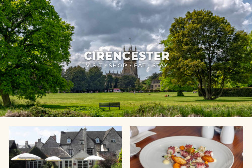 Cirencester website, promoting Cirencester for over 20 years