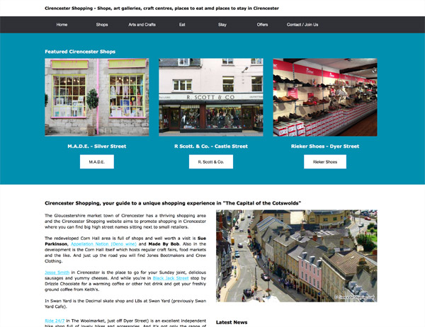 Cirencester Shopping website