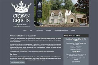 The Crown of Crucis Hotel website